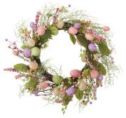 50cm Easter Egg Spring Wreath on Vine Base