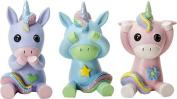 Ebros See Speak And Hear No Evil Unicorns Small Figurine 7cm Tall Each Colourful Glittery Three Unicorn Collectible Statue