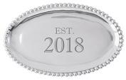 "Mariposa ""Est. 5130cm Pearled Oval Platter"