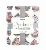 Opulence Velvety Plush Soft Cupcake Throw Blanket 150cm x 180cm