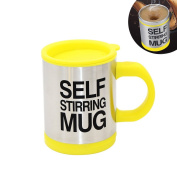 HanDingSM Self Stirring Coffee Mug,Battery Operated Stainless Steel Automatic Self Mixing Cup and Mug for Home Office Travelling Best gift for family,friend,Teacher