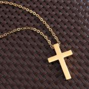 OULII Catholic Jewellery Titanium Steel Pendant Necklace with Cross Crucifix for Men Women Large Size