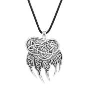 GUAngqi Retro Nordic Bear Paw Claw Veles Symbol Pendantn Necklace