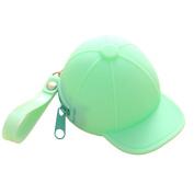 TOYMYTOY Cute Mini Coin Case Creative Baseball Cap Purse Silicone Waterproof Zipped Wallet