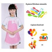 Kid's Chef Apron w/ Kitchen Tools