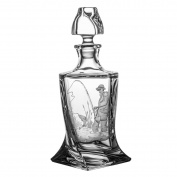 Pack of Aljulia Whiskey Carafe Glass, 850ml, 14.5 x 14.5 x 28 cm