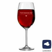 'XXL Leonardo Fuck Valentines Day I Love You Every Single Day. – Valentine's Day Wine Glass – For wine lover – Man/Woman – Gift for Couples – Gift Idea – Wine