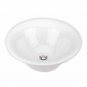 Above Counter Vessel Bathroom Sink White Porcelain | Renovator's Supply