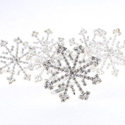 Factory Direct Craft® Group of 6 Sparkling Holiday Rhinestone Crytal Snowflake Napkin Rings for Embellishing a Holiday Table or Display