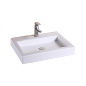 Luxier Vanity Art Basin Ceramic Rectangular Vessel Bathroom Sink