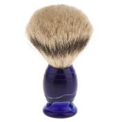 perfk Long Handle Shaving Brush Tool Men Facial Grooming Shave Dense Hair Brush for Daily USe