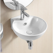 Caracalla Ceramic 41cm Wall Mount Bathroom Sink with Overflow