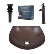 Sinkology Lovelace Metal Specialty Vessel Bathroom Sink with Faucet