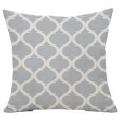 beiguoxia Geometric Pattern Linen Throw Pillow Case Sofa Bed Cushion Cover for Car, Cream