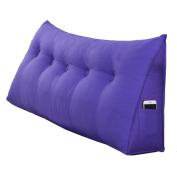 Cotton and linen large triangle cushion solid soft waist pillow mattress solid colour sofa spine pillow