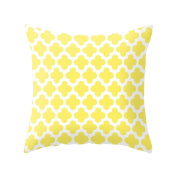 Livecity Pineapple Leaf Yellow Pillow Case Sofa Car Waist Throw Cushion Cover Home Decor size 6 Clover