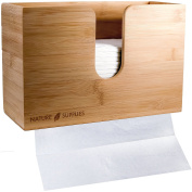 Bamboo Paper Towel Dispenser For Bathroom and Kitchen - Wall Mount and Countertop Multifold Paper Towel, C-Fold, Zfold, Tri fold Hand Towel Holder Commercial
