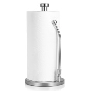 Standing Paper towel holder Stainless Steel, Kitchen Tissue Holder Countertop Anti-Slip , Simply Tear Roll Contemporary Paper Towel Holder Napkin Towel holder, Brushed Nickel by BESy