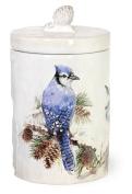 Boston International TMX17723 Birds of the Season Ceramic Cookie Jar, Blue Jay