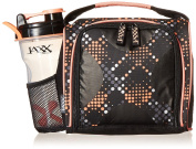 Fit & Fresh Jaxx FitPak Meal Prep Bag with Leakproof Portion Control Container Set and Shaker Cup, Pack Healthy Meals All Day, Melon Dots