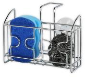 SimpleHouseware Kitchen Sponge Holder Sink Caddy, Chrome