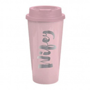 Travel Tumbler in Light Pink Wifey - 470ml