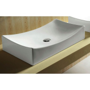 Caracalla Ceramica Ceramic Rectangular Vessel Bathroom Sink