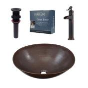 Sinkology Maxwell Metal Oval Vessel Bathroom Sink with Faucet