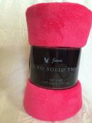 "Ultra Soft Cosy Plush Fleece Warm Solid Colours Travelling Throw Blanket 50"" X 60"" (127 Cm X 152 Cm)"