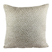Homey Cosy Jacquard Textile Throw Pillow Cover,Beige Series Taupe Beige Woven Diamond Decorative Square Couch Cushion Pillow Sham Case 50cm x 50cm , Cover Only
