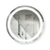 Round 60cm LED Bathroom Mirror | Lighted Vanity Mirror Includes Defogger & Dimmer