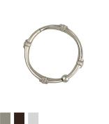 Zenna Home SSR007BN, NeverRust Rustproof Decorative Shower Rings, Brushed Nickel