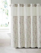 Hookless RBH40MY082 Cherry Bloom Shower Curtain with PEVA liner - Pearl Taupe