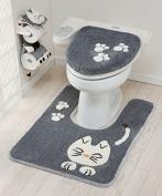 Tortoise Pretty Cat Series Toilet Lid cover Bathroom Grey 46714 from Japan