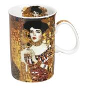 CARMANI - Classic mug decorated with Gustav Klimt 'Adele' 350ml