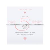 Joma Jewellery a little 5th Birthday bracelet