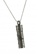 Stainless Steel Prayer Cylinder Vial Keepsake Necklace