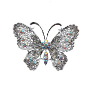 MultiWare Large Vintage Alloy Rhinestone Butterfly Brooch Broach Pin Wedding