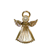 Guardian Angel Gold Costume Brooch With Gift Box