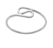 """Silverly Women's .925 Sterling Silver Thin """"S"""" Looping Design Stackable Small Toe Midi Finger Ring"""