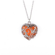 Pendant Necklace for Women, Turkey Fashion Magical Aqua Tree peach Heart Diamante Glow In The Dark Pendant Necklace Gift Necklace Long Chain for Party Cocktail Etc