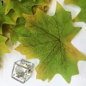 Profusion Circle 100pcs Simulation Falling Leaves Wedding Favour Autumn Maple Leaf Decorations Party
