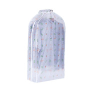 Demiawaking Suit Dust Cover Bag Transparent 3D Print Clothing Coat Storage Dustproof Cover