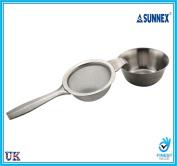 Sunnex Tea Strainer and Drip Bowl Stainless Steel Infuser Kitchen Utensil UK