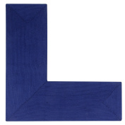 Better Trends/Pan Overseas BRAL244848NAVS Alpine L Briaded Rug, 24x48x48-L-Shape, Navy Solid