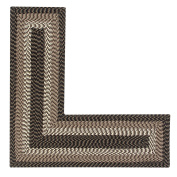 Better Trends/Pan Overseas BRAL244848CH Alpine L Briaded Rug, 24x48x48-L-Shape, Chocolate