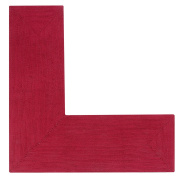 Better Trends/Pan Overseas BRAL244848BUS Alpine L Briaded Rug, 24x48x48-L-Shape, Burgundy Solid