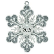 """""""2015"""" Annual Silver Snowflake Harvey Lewis™ Silver-plated Ornament - Made with 15 ® Element"""