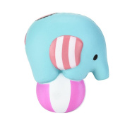 Elephant Play Ball Scented Squishy Toys, REYO 12cm Slow Rising Squeeze Toys Cream Scented Decompression Toys Fun Toy Gift Kids Soft Toy Jumbo Collection Easter Gift Phone Strap