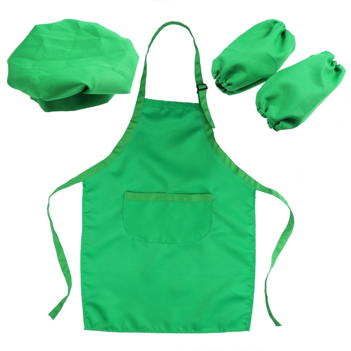 Ounona Kidschef Hat Apron And Cooking Sleeve Childrens Chef Set